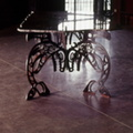 "Orca table. 1/2"" steel, granite,  Private residence Kent, Washington"